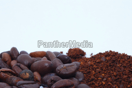 coffee beans and ground bottom cross