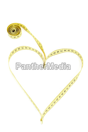 tape measure heart shape health