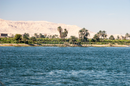 waterscape at nile near luxor in