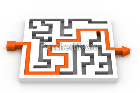 maze puzzle solved