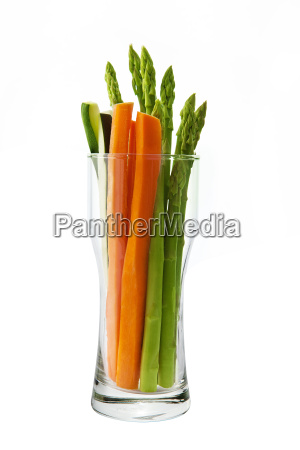 low calorie vegetable in glass