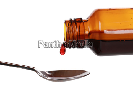 cough syrup in a bottle