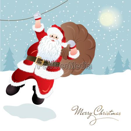 santa claus greeting card design