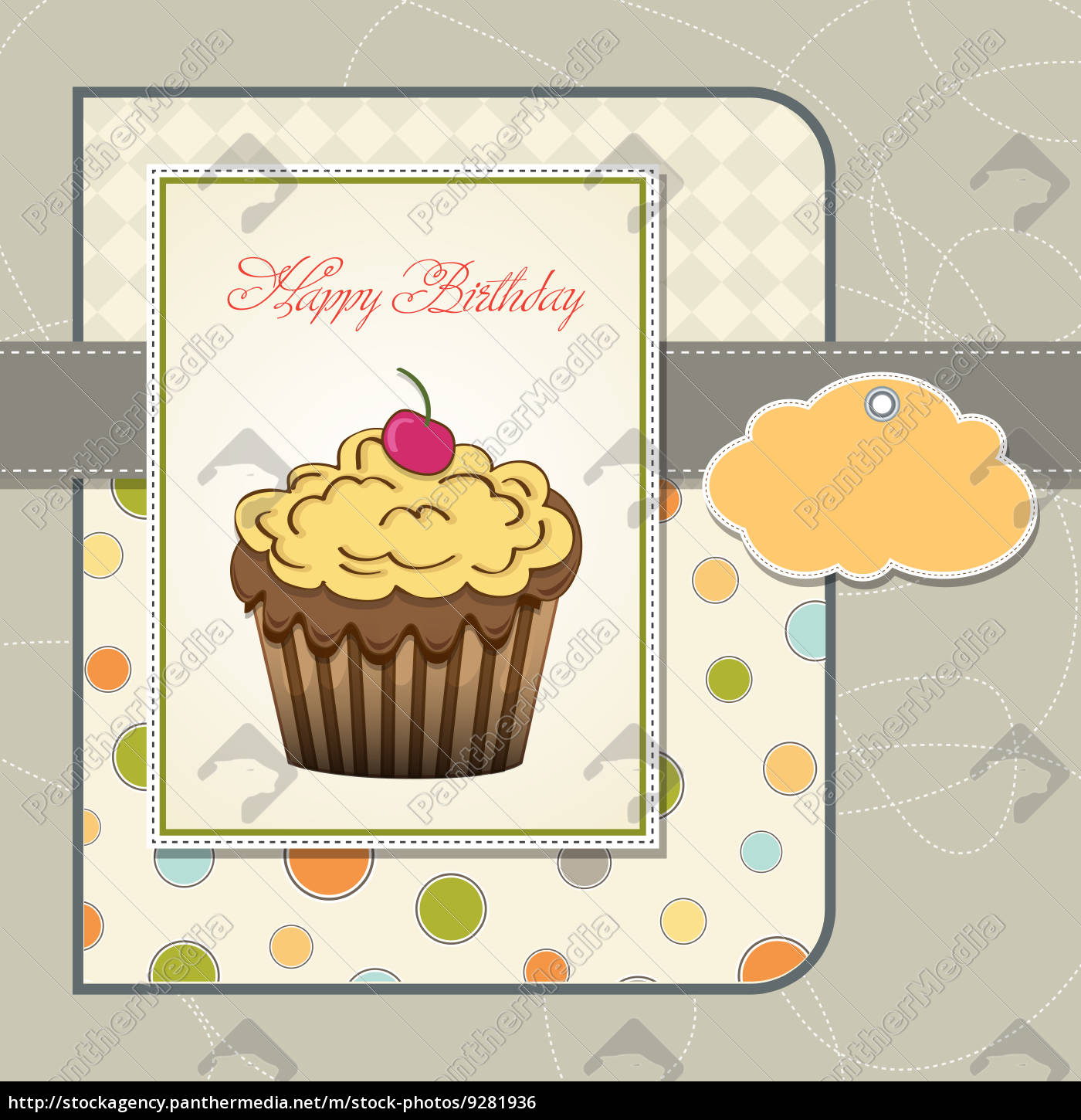 Astonishing Cute Happy Birthday Card With Cupcake Royalty Free Photo Funny Birthday Cards Online Overcheapnameinfo