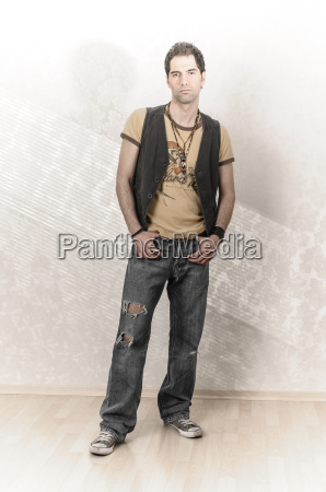young man in casual wear