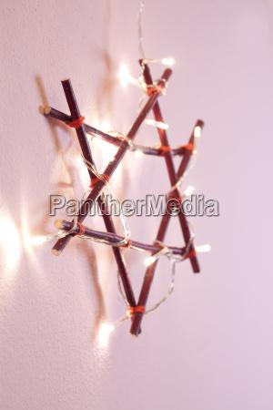 christmas star pink decoration