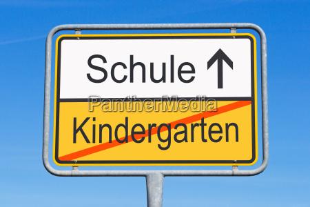 kindergarten and school