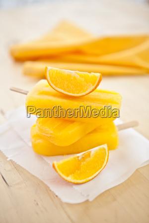 homemade orange popsicles