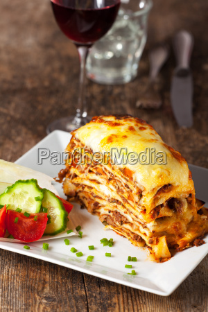fresh italian lasagna