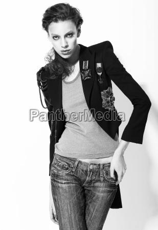 ambitiousness stylishness imposing funky female fashion