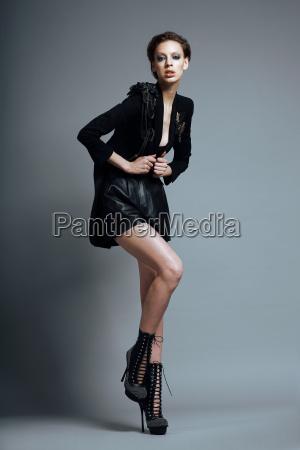 vogue style stylish woman fashion model
