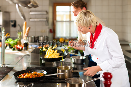 cook cooks in a restaurant or