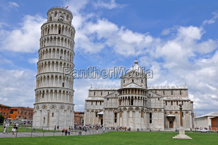 the tower of pisa and cathedral