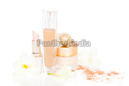 cosmetic and make up in beige