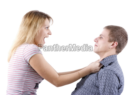 woman abusing a man