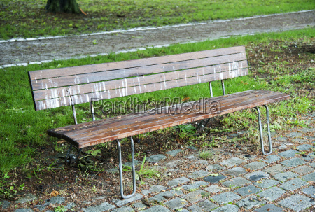 polluted park bench