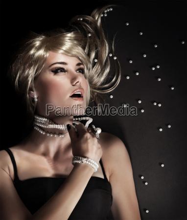 fashion portrait of a beautiful seductive