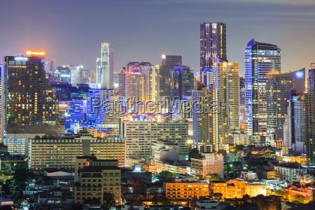 bangkok skyline downtown
