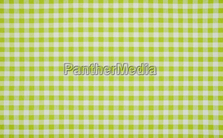 green white checkered tablecloth