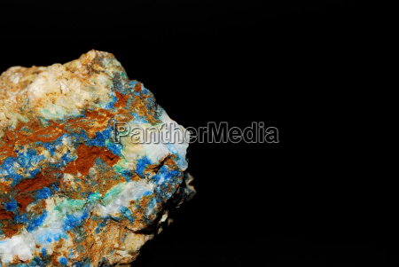 minerals with azurite malachite and magnsesite