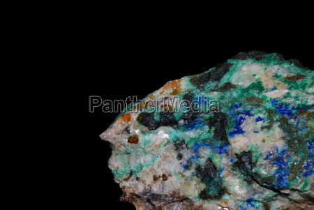 minerals azurite malachite and pyrite