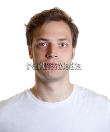 passport photograph of a young man