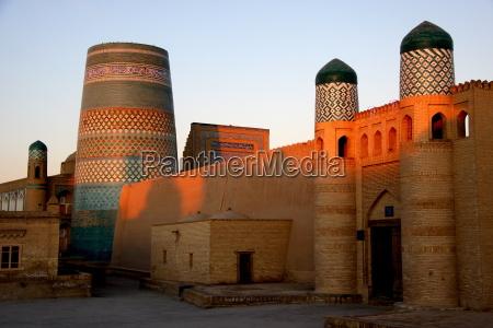 morning mood in khiva uzbekistan