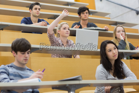 students taking an active part in