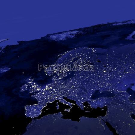 europe city lights