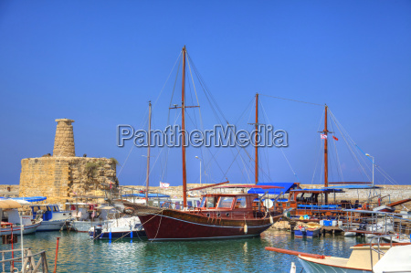 the harbor in the mediterranean port