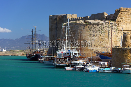 harbour and medieval castle in kyrenia