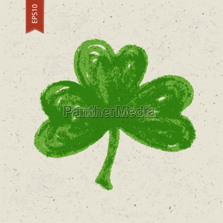 clover sign on paper texture vector