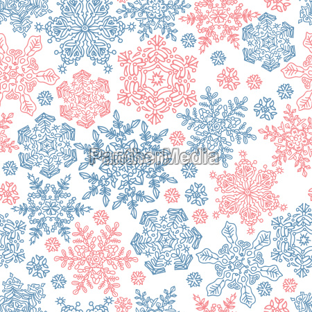 seamless snowflakes pattern for winter themed