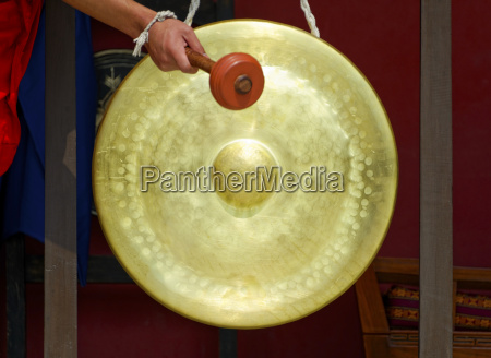 gong in a buddhist monastery