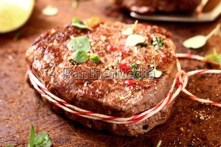 thick juicy grilled lean beef steak