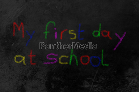 my first day at school colored
