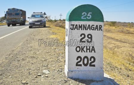 jamnagar direction milestone state hig