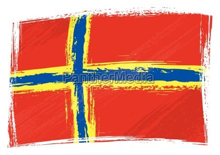 grunge orkney flag