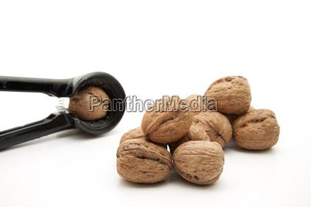 walnut with nutcracker