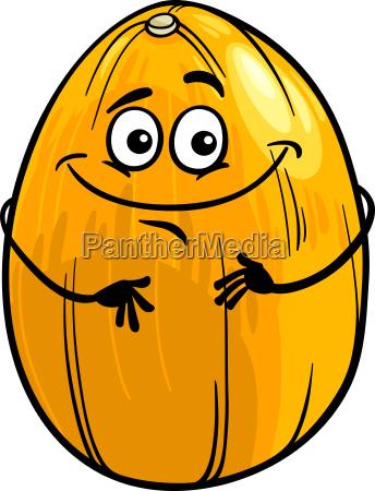 funny melon fruit cartoon illustration