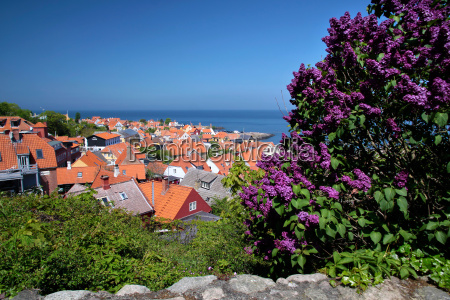 view of gudhjem in bornholm