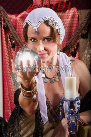 grinning fortune teller