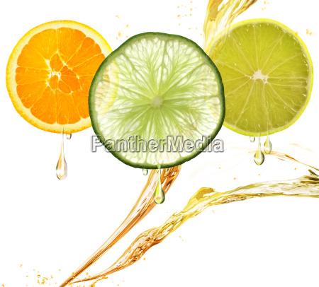 orange lemon and lime slices