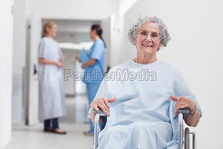 elderly patient in corridor