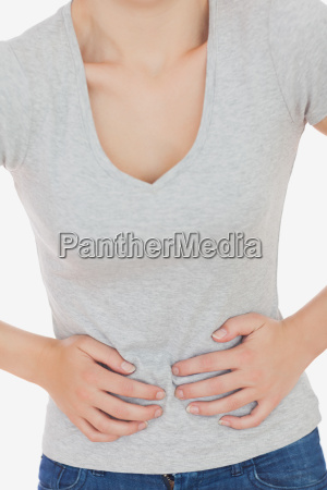 woman, suffering, from, stomach - 9521356