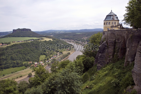 view from the fortress koenigstein