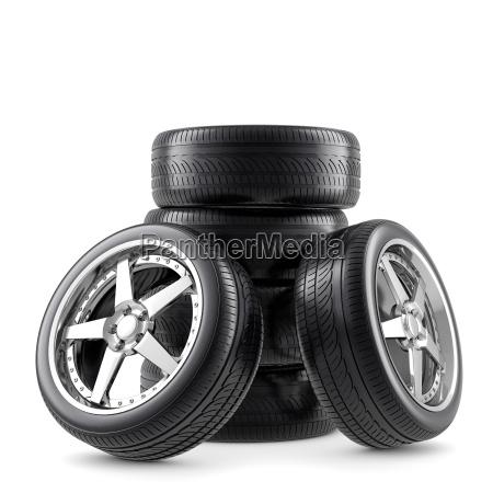 wheels on white