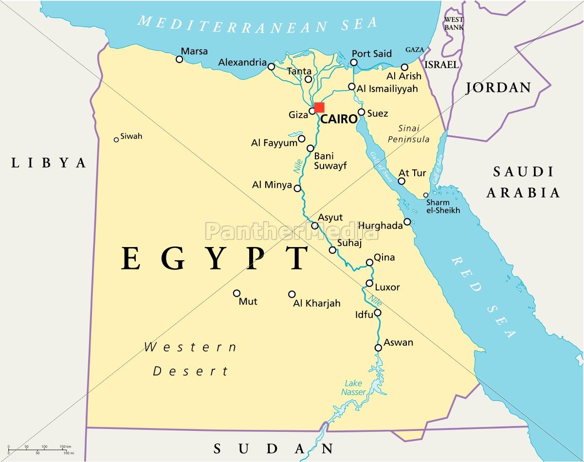 Map Of Egypt Royalty Free Photo 9526252 Panthermedia Stock