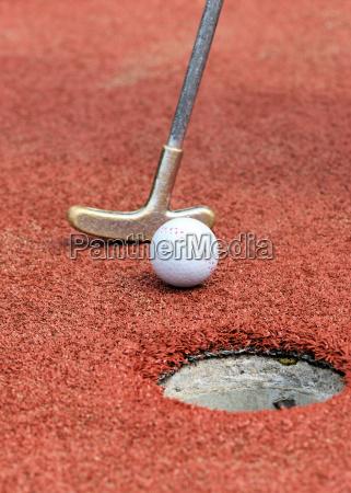 golfo golf miniatura pelota una pelota