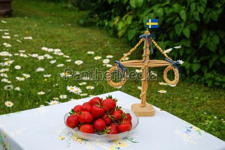 strawberries at midsummer